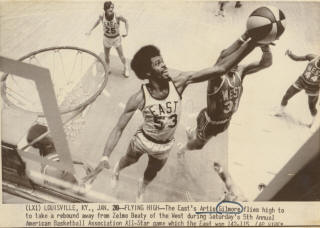 All-Star 71-72 East Artis Gilmore, Bill Melchionni, West Zelmo Beaty