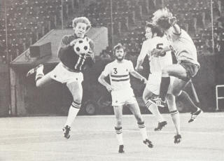 NASL Soccer Philadelphia Atoms 74 Goalie Bob Rigby, Bob Smith