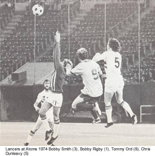 NASL Soccer Philadelphia Atoms 74 Home Back Chris Dunleavy, Bobby Rigby