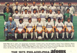 NASL Soccer Philadelphia Atoms 75 Home Team