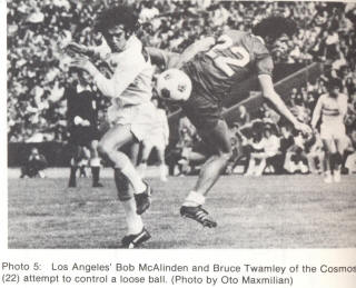 NASL Los Angeles Aztecs 75 Home Back Bob McAlinden