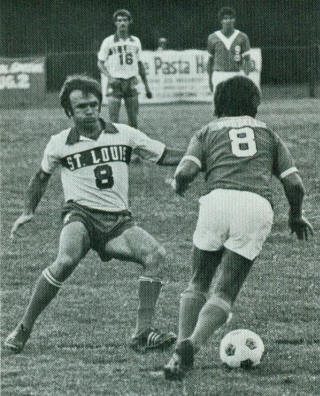 NASL Soccer Los Angeles Aztecs 1975 Road Back Alex Russell, Stars