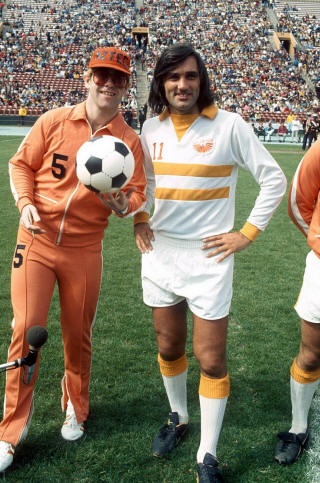 NASL Los Angeles Aztecs 76 Home George Best, Elton John