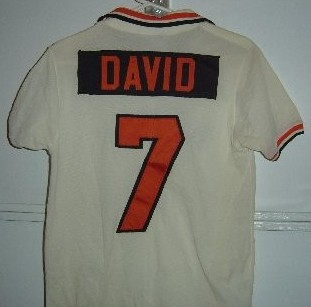 NASL Los Angeles Aztecs 1977 Home Jersey Steve David Back