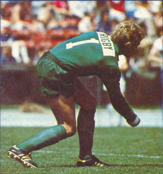 NASL Soccer Los Angeles Aztecs 77-78 Goalie Back Bob Rigby