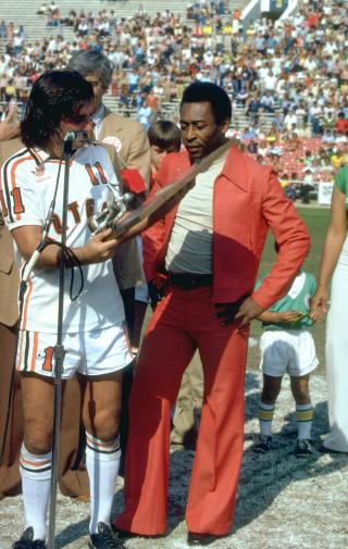 NASL Los Angeles Aztecs 78 Home George Best, Pele (2)