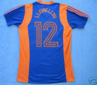 NASL Los Angeles Aztecs 1979 Road Jersey Sammy Llewellyn Back