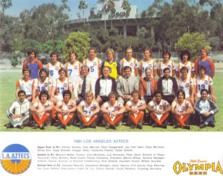 NASL Soccer Los Angeles Aztecs 80 Home Team