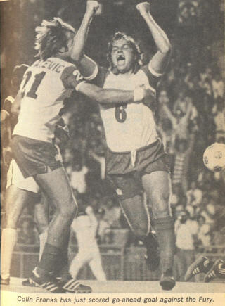 Toronto Blizzard 79 Home Colin Franks, Ivan Lukacevic