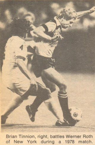 NASL Soccer Colorado Caribous 78 Road Brian Tinnion