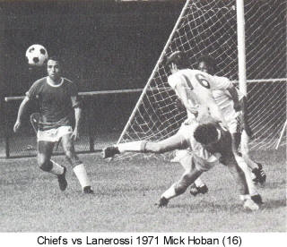 Chiefs Lanerossi 1971 Home Back Mick Hoban