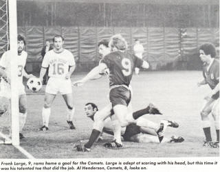 NASL Soccer Baltimore Comets 74 Road Back Frank Large, Laurie Calloway