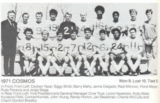 NASL Soccer New York Cosmos 1971 Home Team