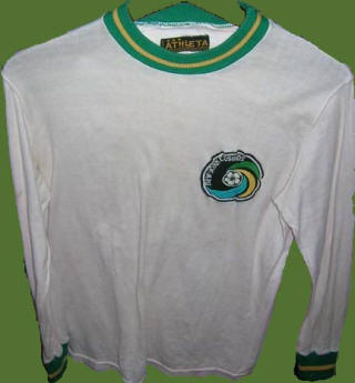 NASL Soccer New York Cosmos 75-76 Home Jersey Striped Sleeves