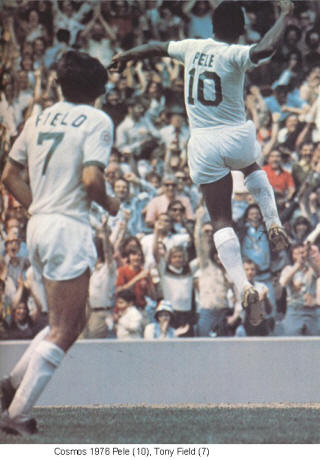 NASL Soccer New York Cosmos 1976 Home Tony Field Pele