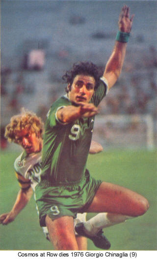 NASL Soccer New York Cosmos Rowdies 1976 Road Giorgio Chinaglia
