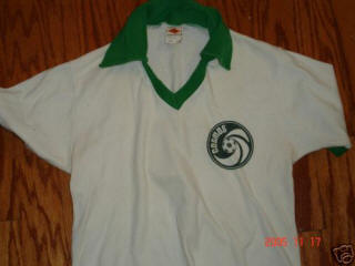 NASL Soccer New York Cosmos 1977 Home Jersey Tony Field No Number