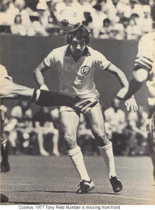 NASL Soccer New York Cosmos 1977 Home Tony Field No Number