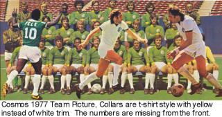 NASL Soccer New York Cosmos 1977 Road Team No Number