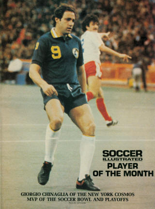 NASL Soccer New York Cosmos 79 Road Giorgio Chinaglia, Blizzard Peter Roe