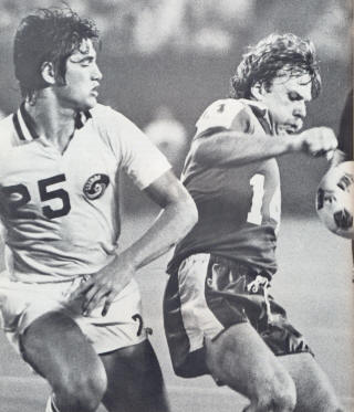 Toronto Blizzard New York Cosmos 1980 Home Jeff Durgan, Gordon Sweetzer