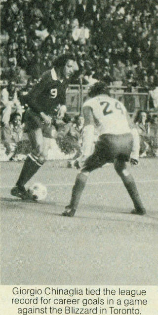 NASL Soccer New York Cosmos 1980 Road Giorgio Chinaglia, Blizzard Francesco Morini