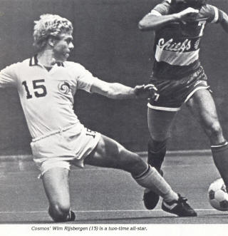 Atlanta Chiefs New York Cosmos 1981 Home Wim Rijsbergen, Lawrence Chelin
