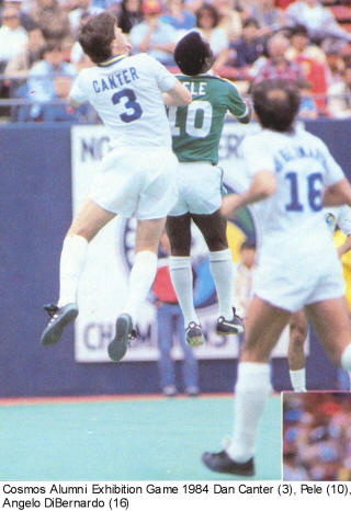 NASL Soccer New York Cosmos 84 Home Back Dan Canter, Pele