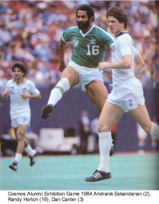 NASL Soccer New York Cosmos 84 Road Exhibition Randy Horton