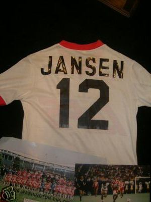 NASL Soccer Washington Dips 80 Home Jersey Wim Jansen 79 Style Back