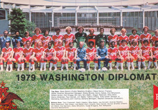 NASL Soccer Washington Dips 79 Road Team