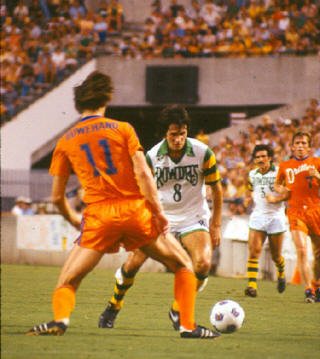 NASL Soccer Edmonton Drillers 79 Road Back Rob Ouwehand, Leifsson