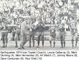 NASL Soccer San Jose Earthquakes 74 Road Johnny Moore