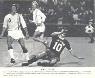 NASL Soccer San Jose Earthquakes 74 Road Paul Child