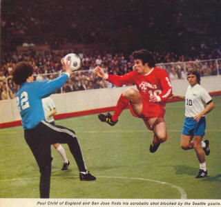 NASL Soccer San Jose Earthquakes 74-75 Indoor Road Paul Child Sounders