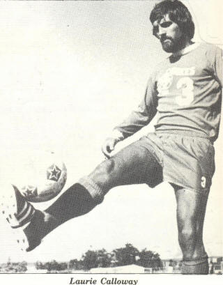 NASL Soccer San Jose Earthquakes 75 Road Laurie Calloway