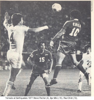 NASL Soccer San Jose Earthquakes 77 Back Road Paul Child
