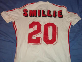 NASL Soccer San Jose Earthquakes 77 Home Jersey John Smillie Back