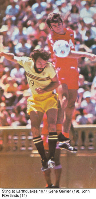 NASL Soccer San Jose Earthquakes 77 Road John Rowlands Gene Geimer Sting