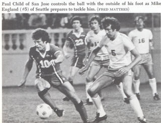 NASL Soccer San Jose Earthquakes 77 Road Paul Child 3