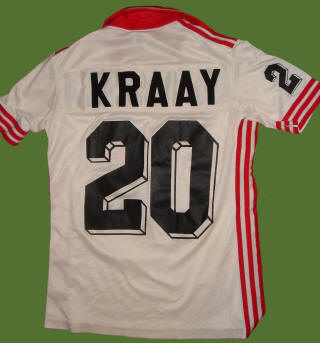 NASL Soccer San Jose Earthquakes 80 Home Jersey Hans Kraay Back