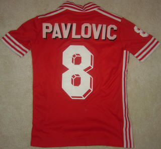 NASL Soccer San Jose Earthquakes 80 Home Jersey Miro Pavlovic Back