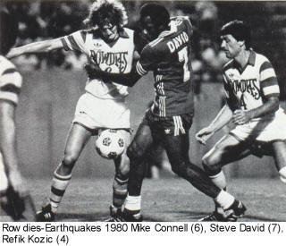 NASL Soccer San Jose Earthquakes 80 Road Back Steve David Rowdies Refik Kozic, MIke connell
