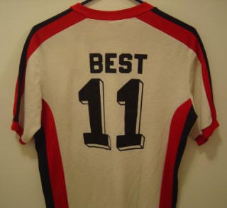 NASL Soccer San Jose Earthquakes 81 Home Jersey George Best Back
