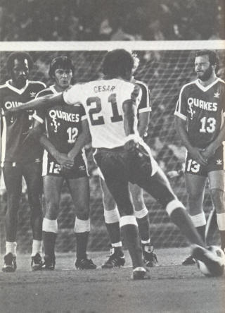 NASL Soccer San Jose Earthquakes 81 Road Steve David, Slavko Linicar, Tony Crescitelli