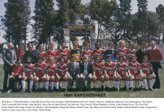 NASL Soccer San Jose Earthquakes 81 Road Team