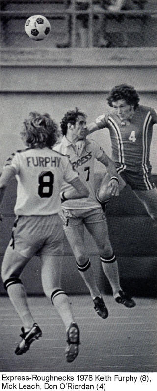 NASL Soccer Detroit Express 78 Home Back Keith Furphy