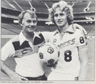 NASL Soccer Detroit Express 78 Road Keith Furphy