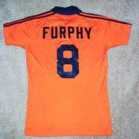 NASL Soccer Detroit Express 79 Road Jersey Keith Furphy Back