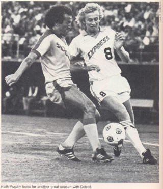 NASL Soccer Detroit Express 80 Home Keith Furphy